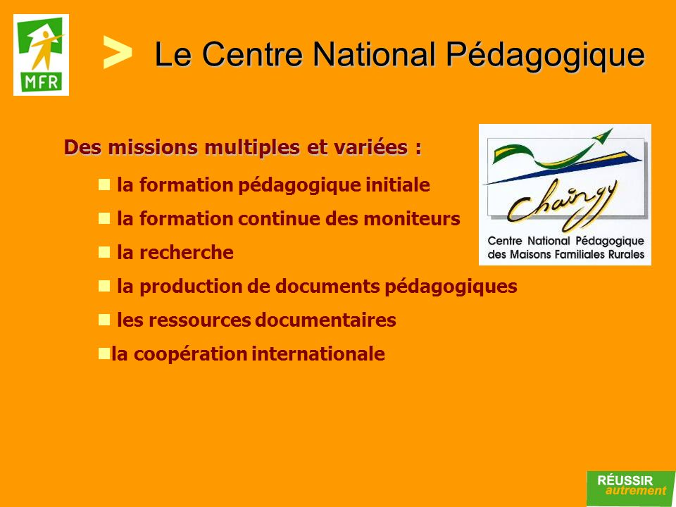 Le Centre National Pédagogique