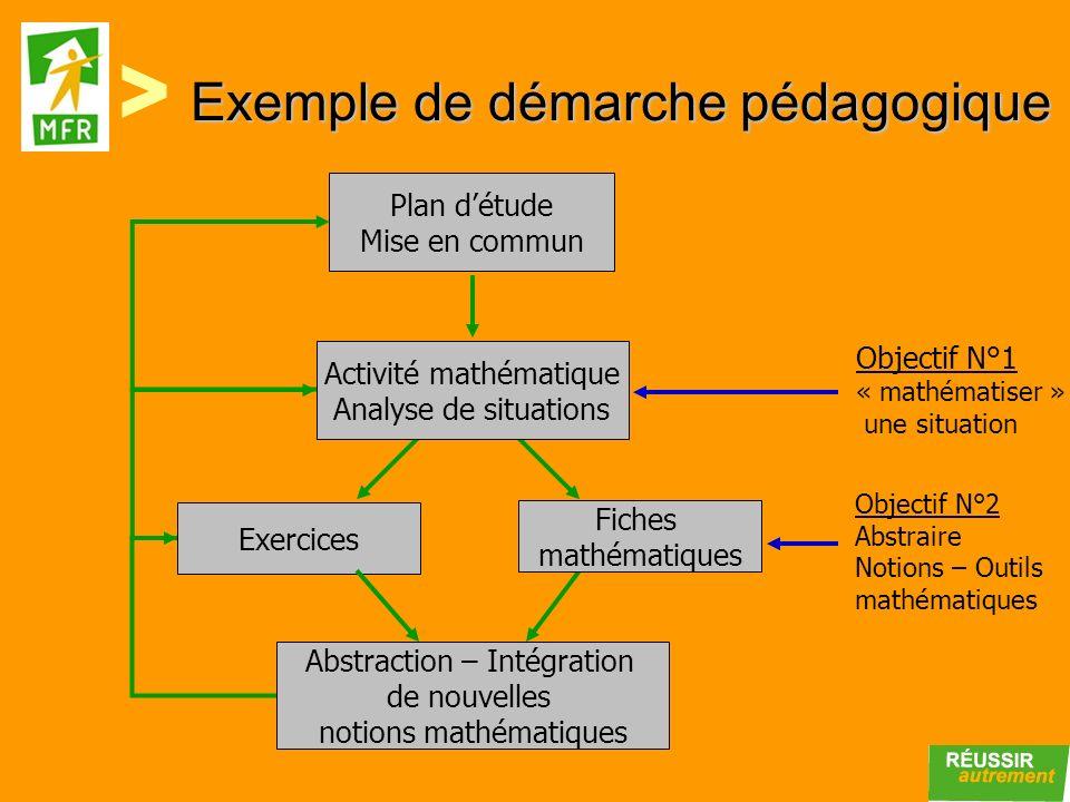 Exemple de démarche pédagogique
