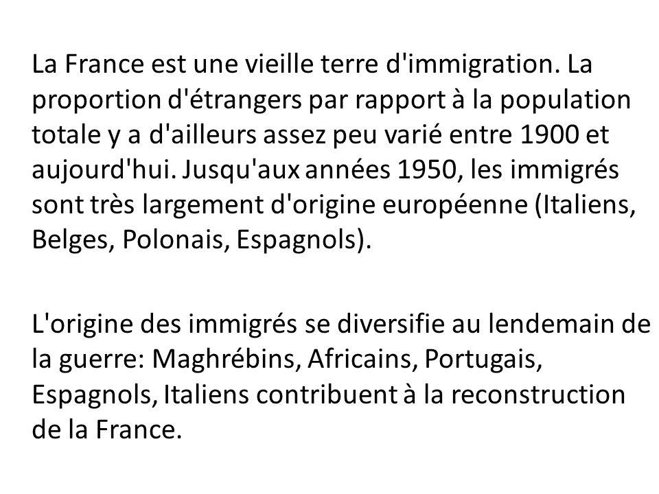 La France est une vieille terre d immigration