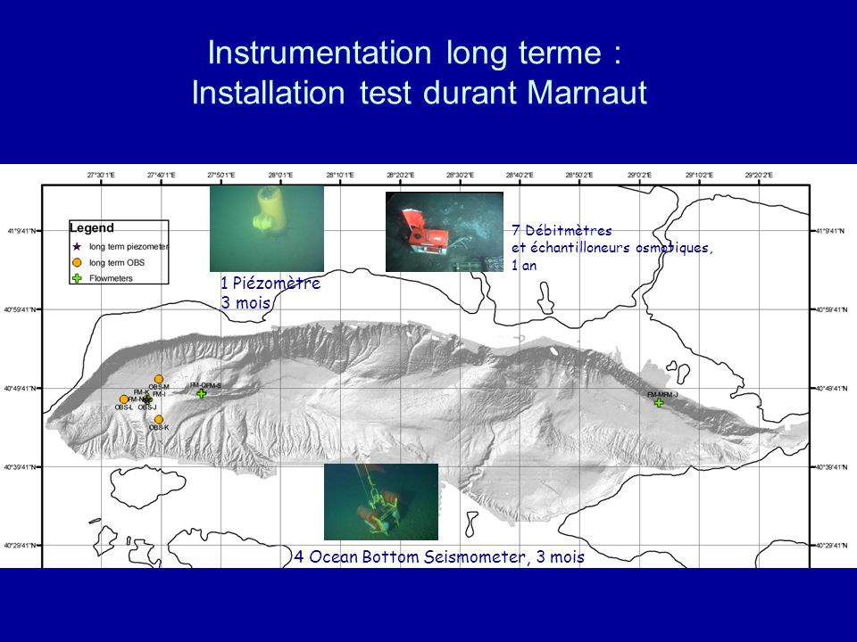 Instrumentation long terme : Installation test durant Marnaut