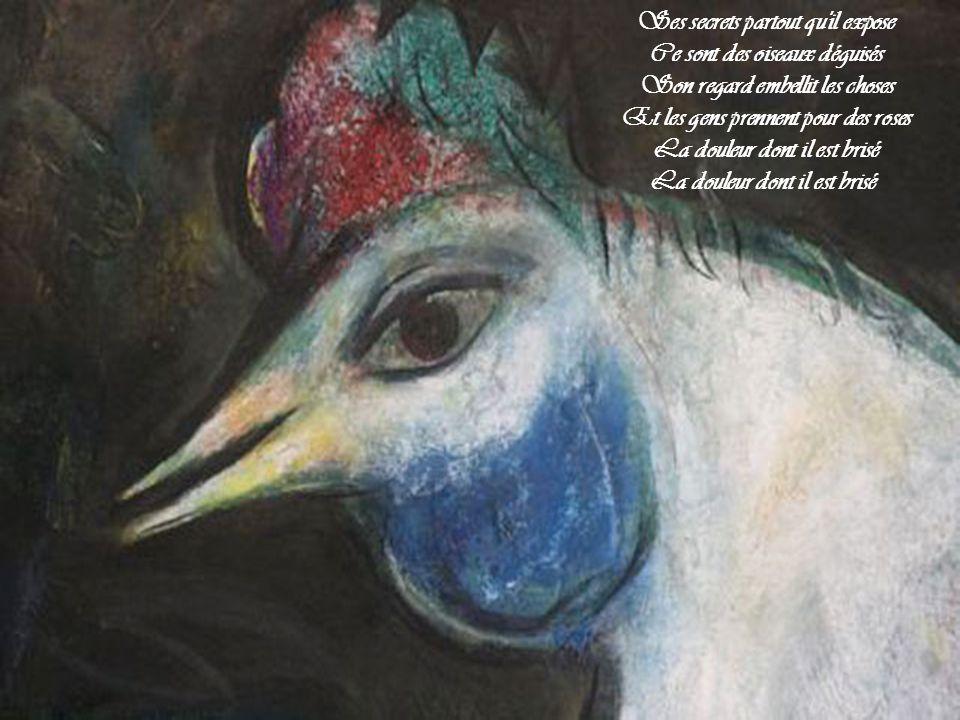 Ce sont des oiseaux déguisés Son regard embellit les choses
