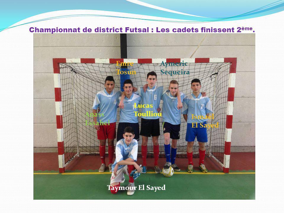 Championnat de district Futsal : Les cadets finissent 2ème.