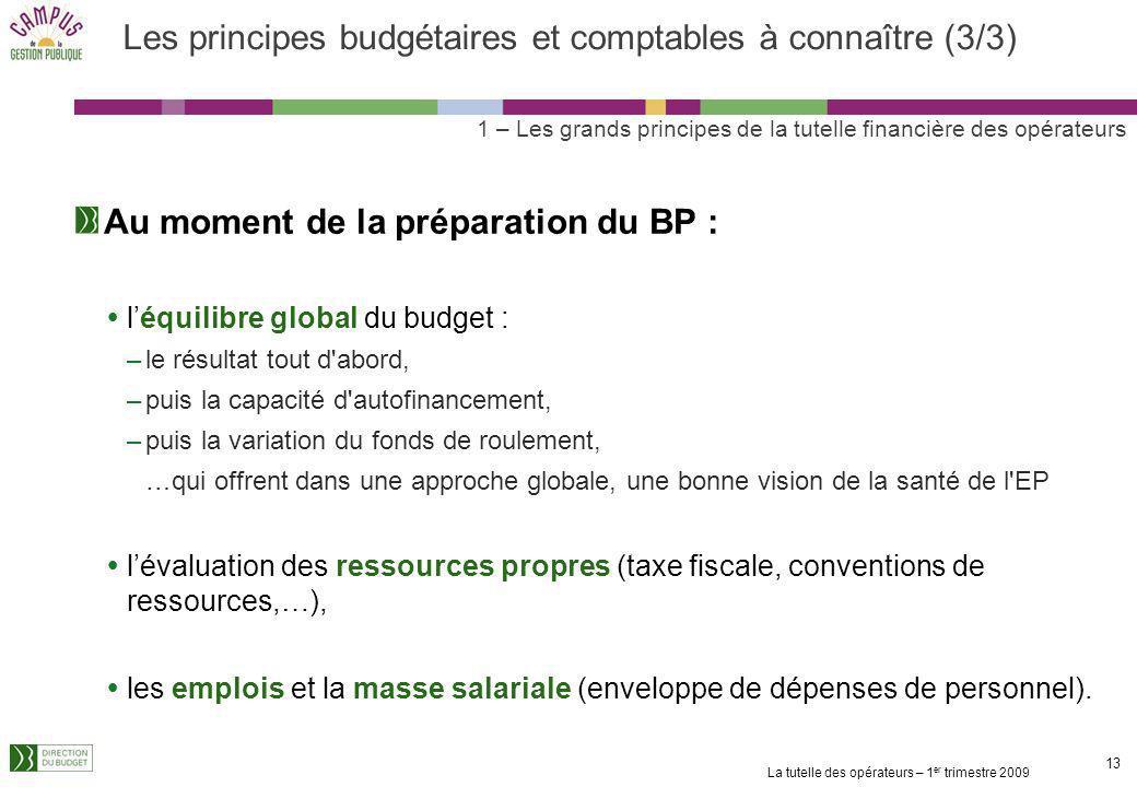 Les principes budgétaires et comptables à connaître (3/3)
