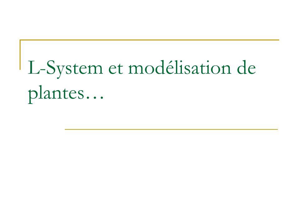 L-System et modélisation de plantes…