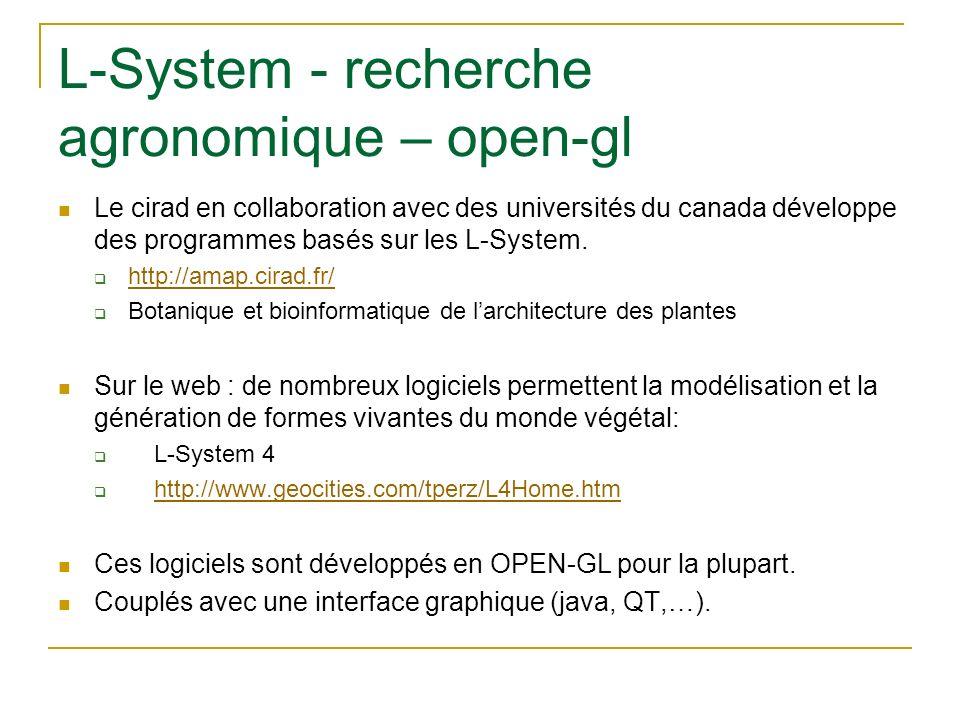 L-System - recherche agronomique – open-gl