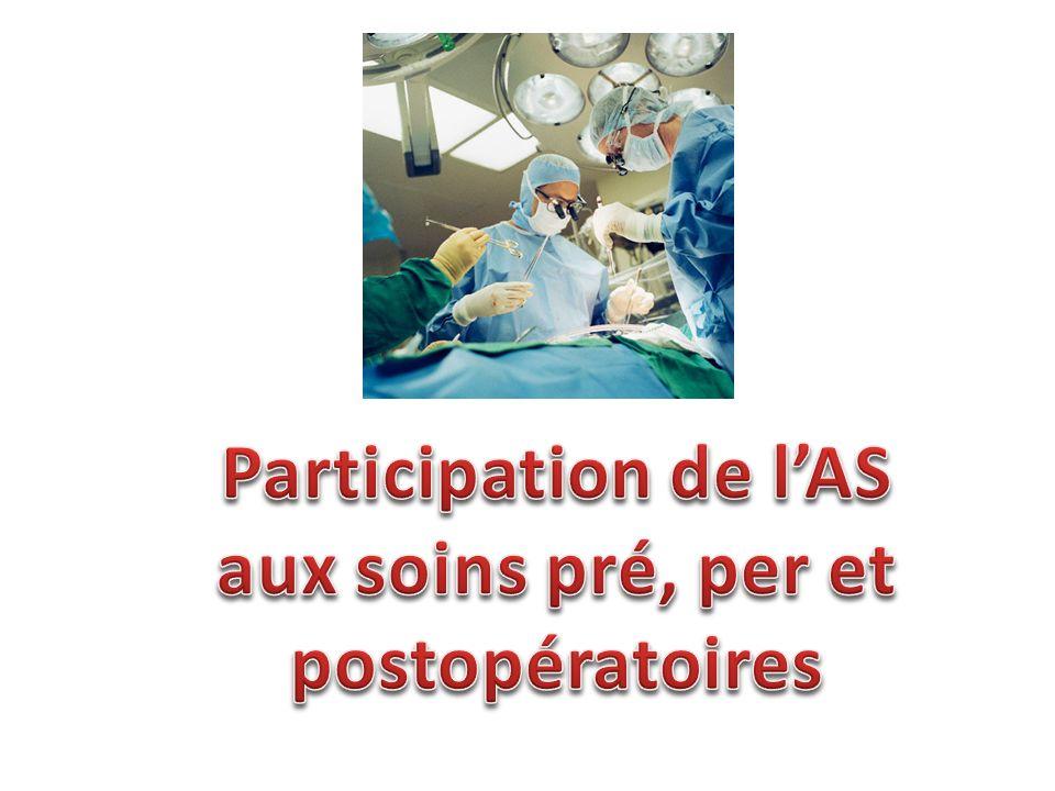 Participation de l'AS aux soins pré, per et postopératoires