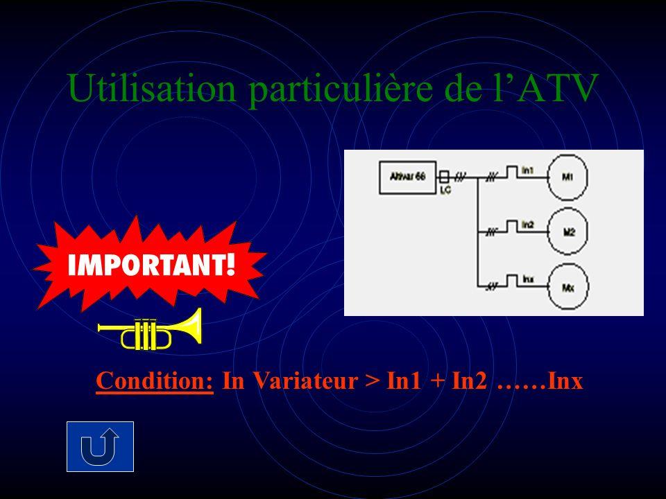 Utilisation particulière de l'ATV