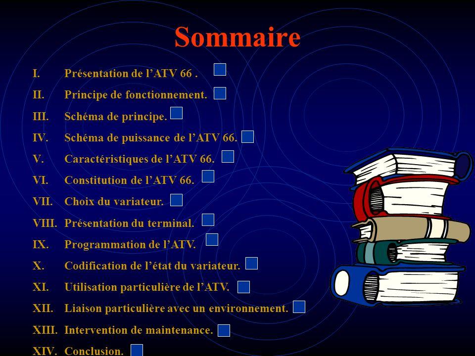 Sommaire Présentation de l'ATV 66 . Principe de fonctionnement.