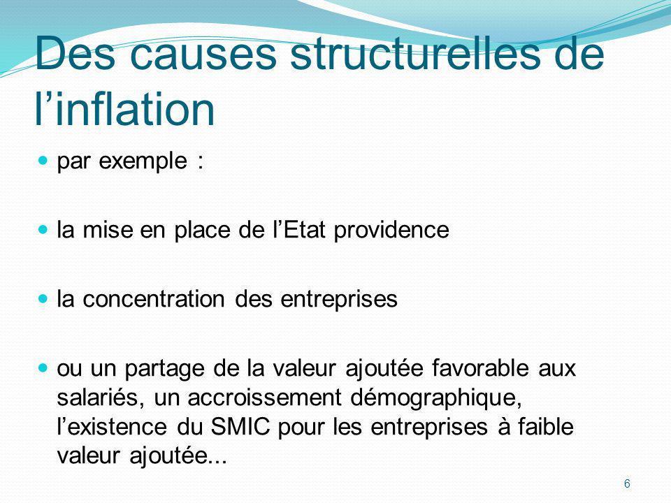 Des causes structurelles de l'inflation