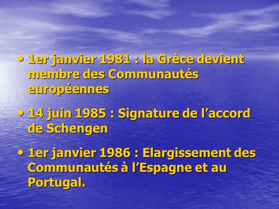 1er janvier 1981 : la Grèce devient membre des Communautés européennes