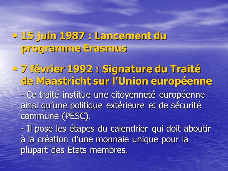 15 juin 1987 : Lancement du programme Erasmus