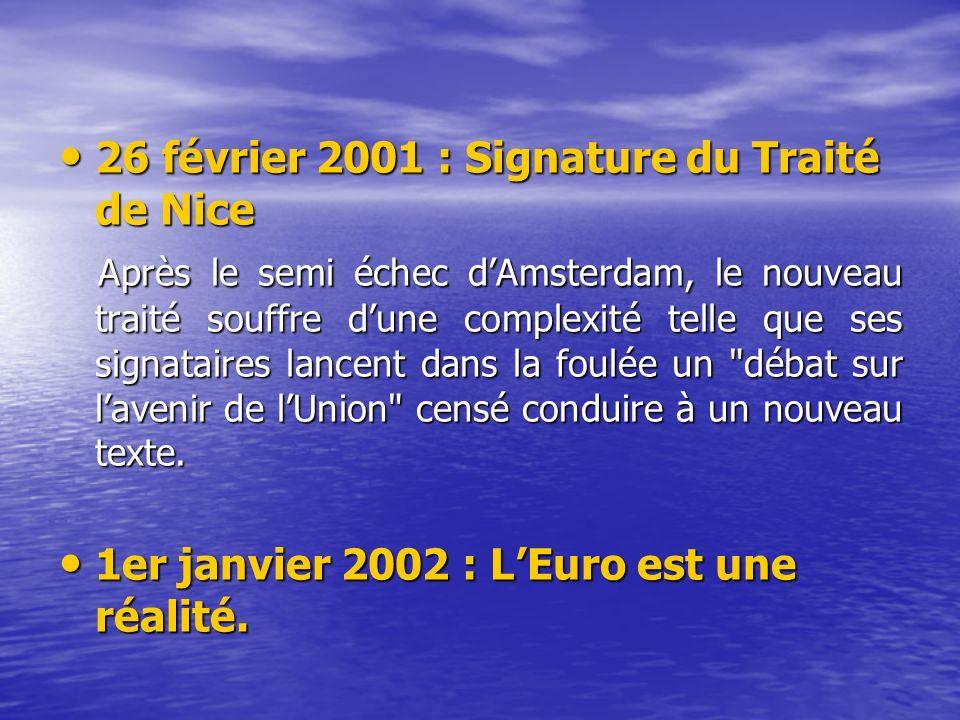 26 février 2001 : Signature du Traité de Nice