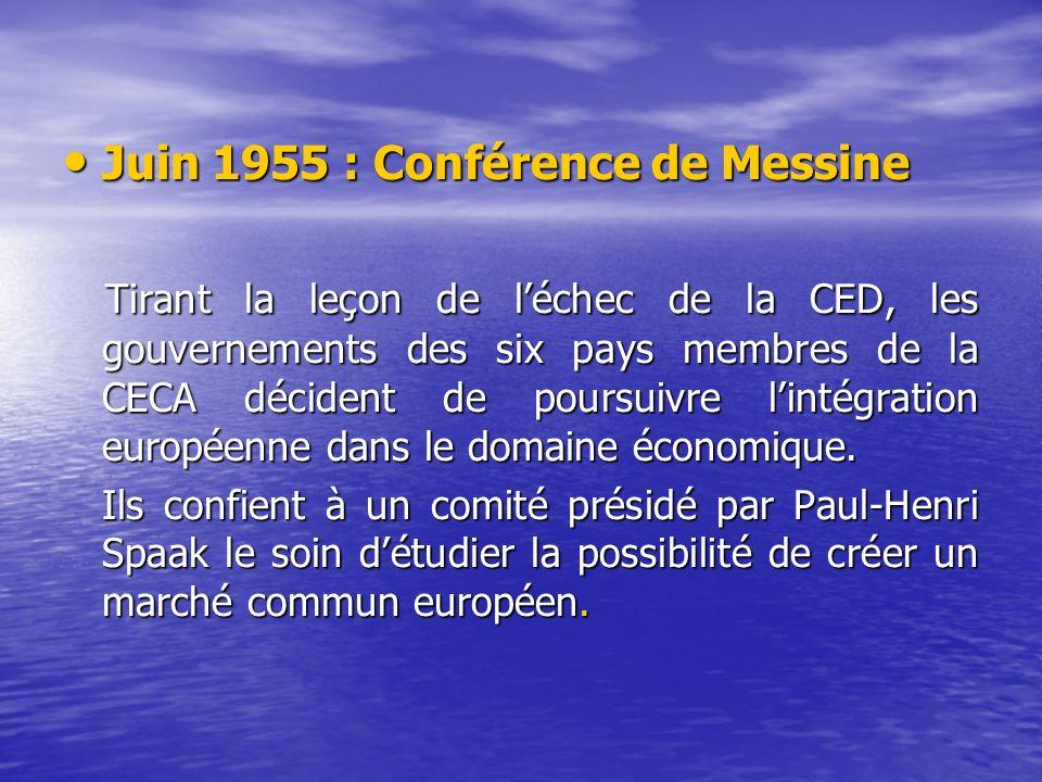 Juin 1955 : Conférence de Messine