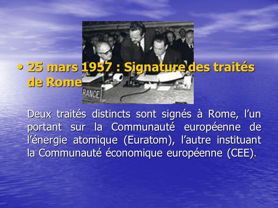 25 mars 1957 : Signature des traités de Rome