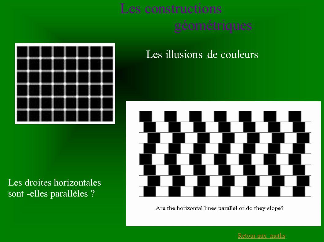 Les constructions géométriques Les illusions de couleurs
