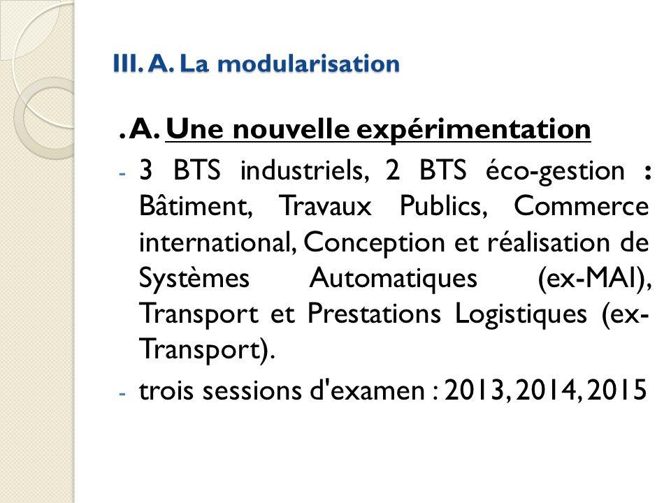 III. A. La modularisation