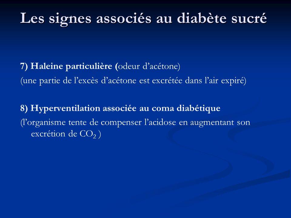 Les signes associés au diabète sucré