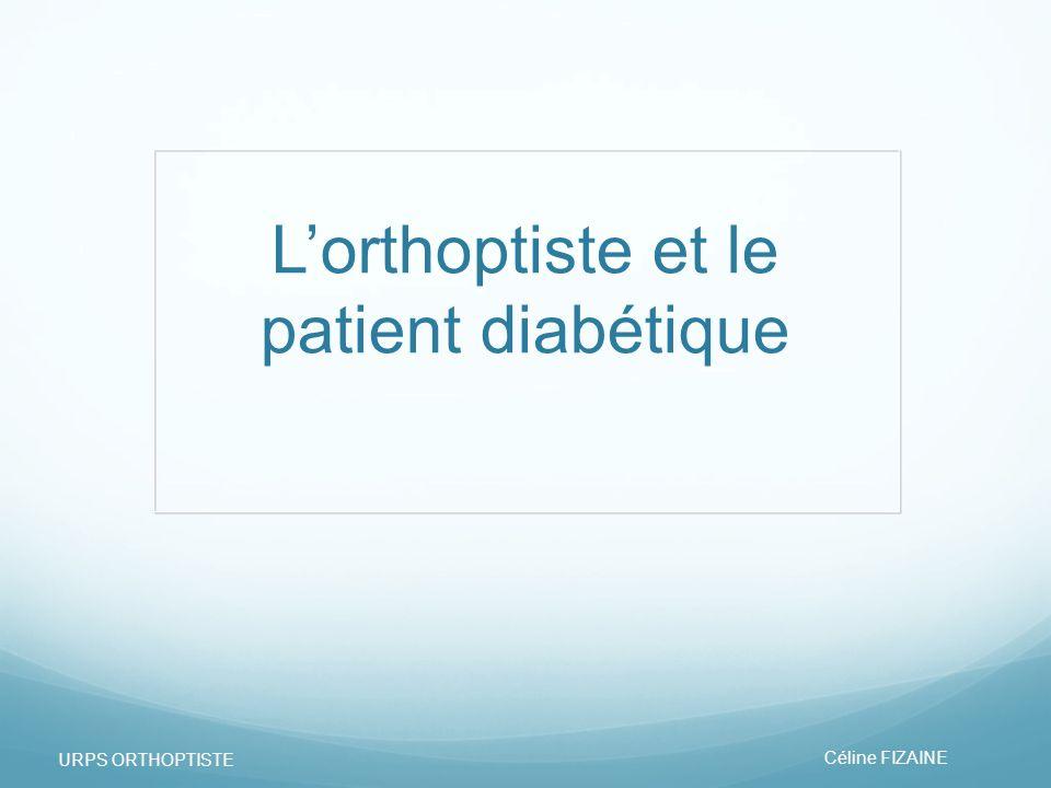 L'orthoptiste et le patient diabétique