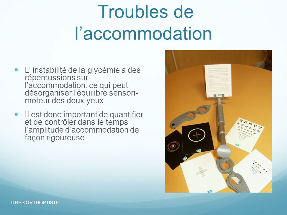 Troubles de l'accommodation