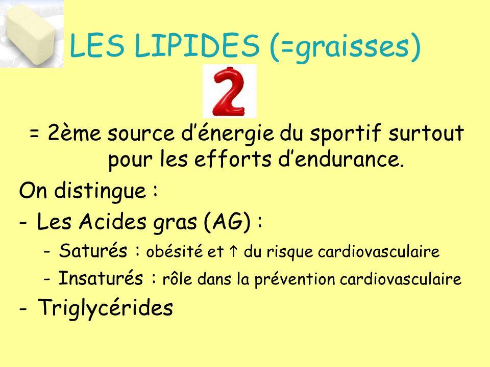 LES LIPIDES (=graisses)