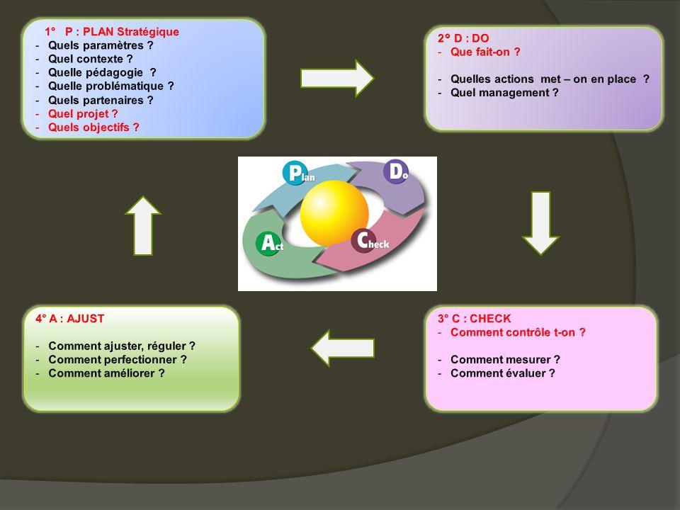 1° P : PLAN Stratégique Quels paramètres Quel contexte Quelle pédagogie Quelle problématique