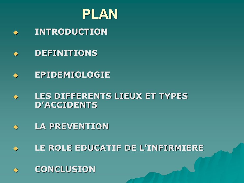 PLAN INTRODUCTION DEFINITIONS EPIDEMIOLOGIE
