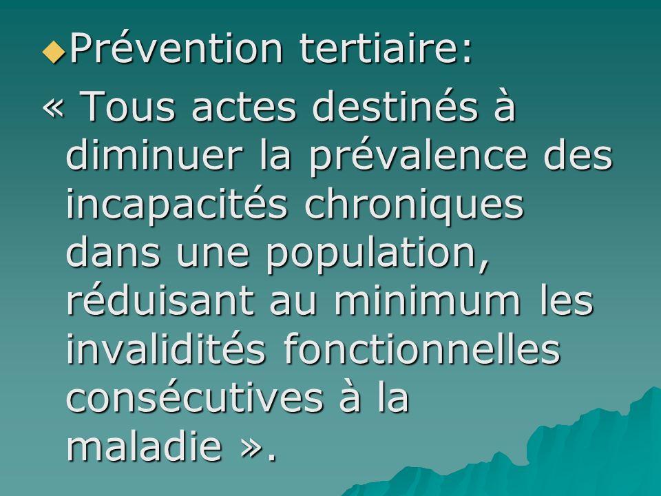 Prévention tertiaire: