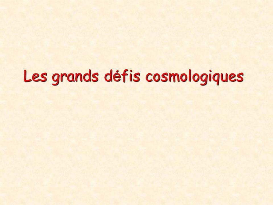 Les grands défis cosmologiques