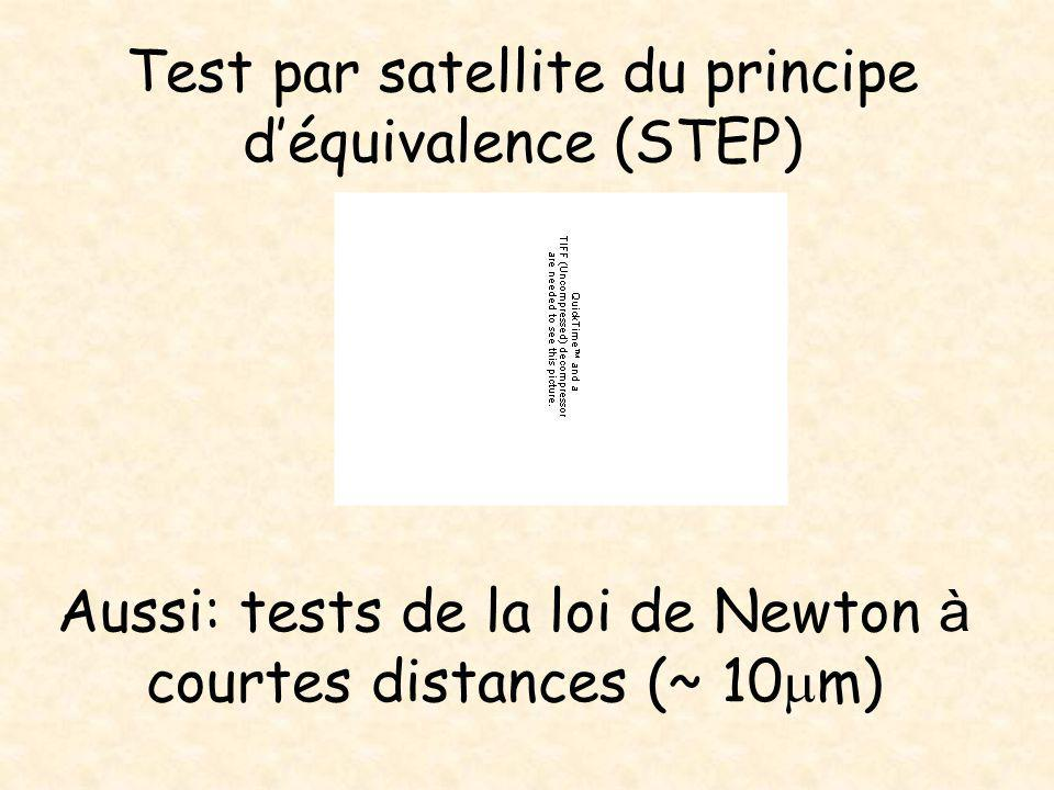 Test par satellite du principe d'équivalence (STEP)