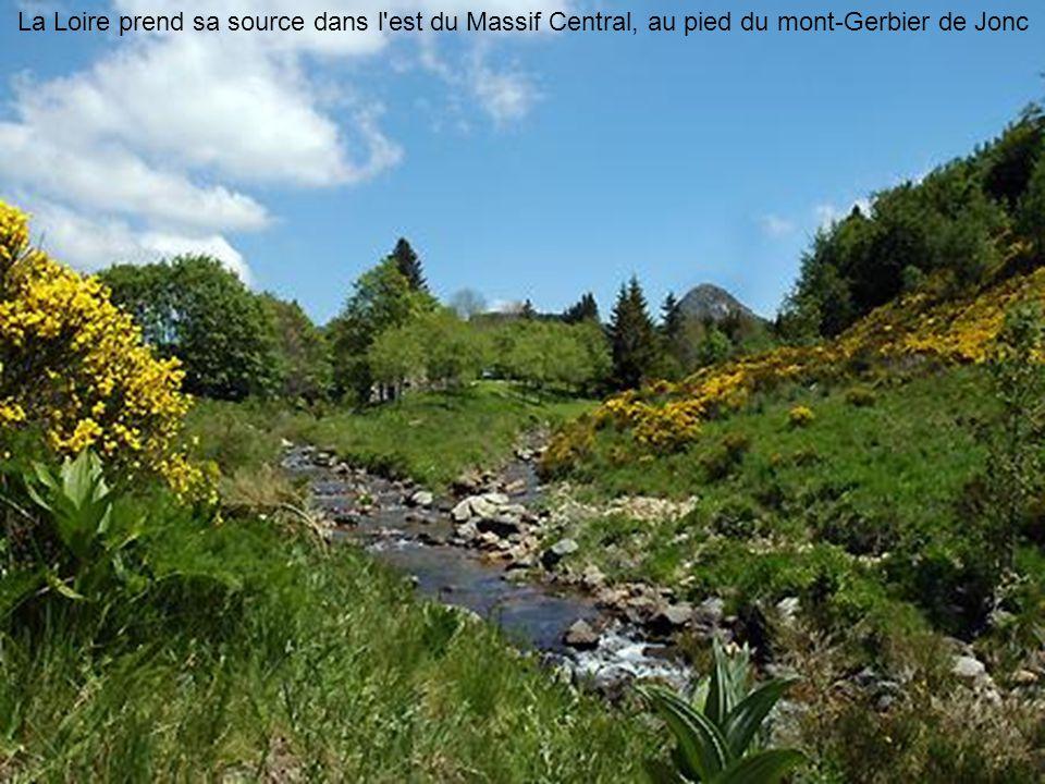La Loire prend sa source dans l est du Massif Central, au pied du mont-Gerbier de Jonc