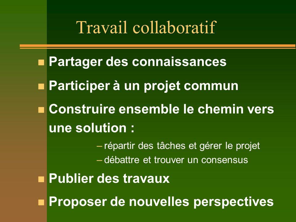 Travail collaboratif Partager des connaissances