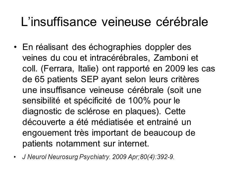 L'insuffisance veineuse cérébrale