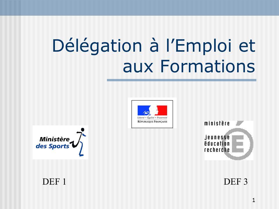 Délégation à l'Emploi et aux Formations