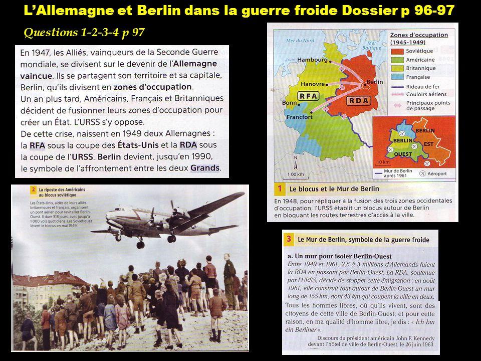 L'Allemagne et Berlin dans la guerre froide Dossier p 96-97