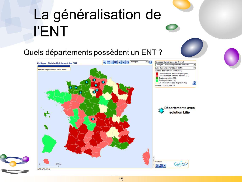 La généralisation de l'ENT