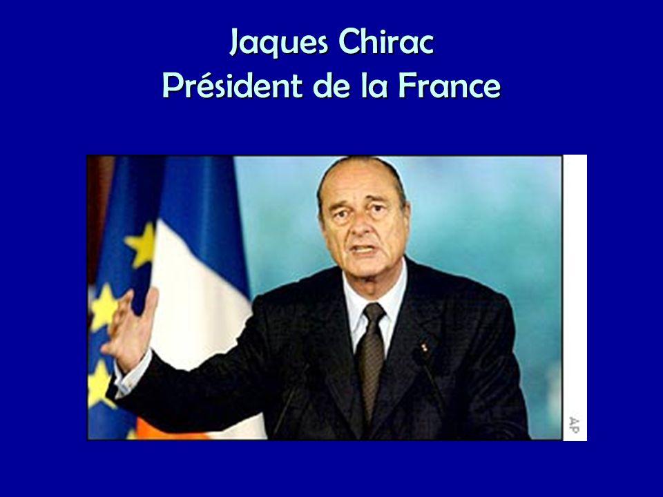 Jaques Chirac Président de la France