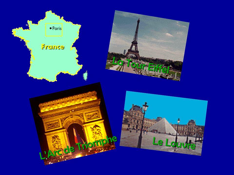 La Tour Eiffel Le Louvre L'Arc de Triomphe