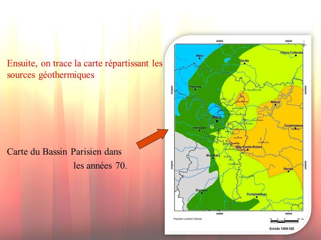 Ensuite, on trace la carte répartissant les sources géothermiques