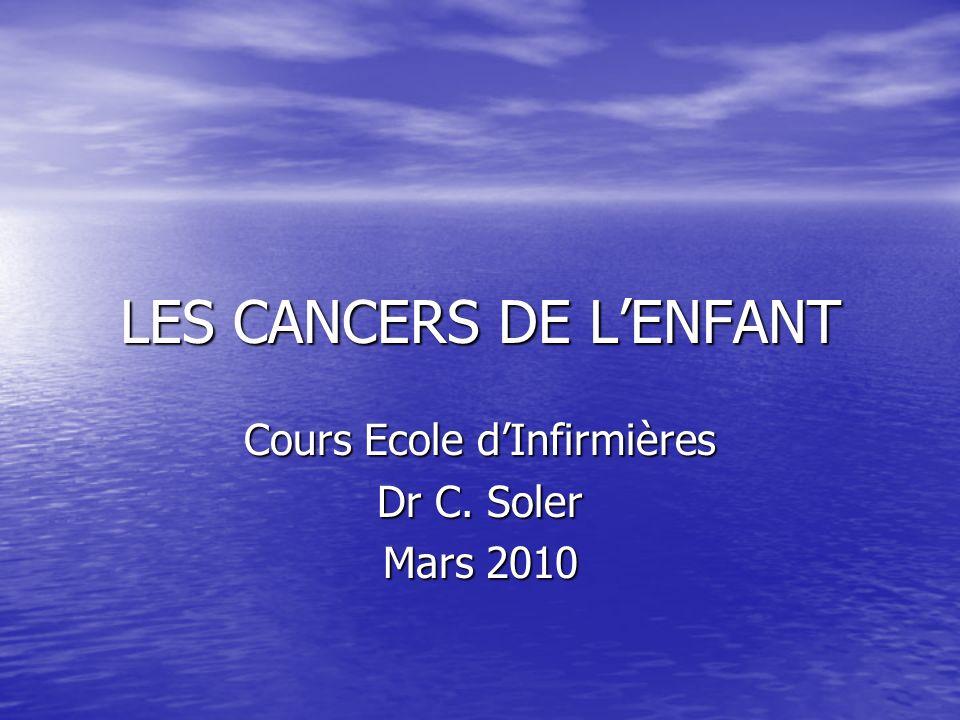 LES CANCERS DE L'ENFANT