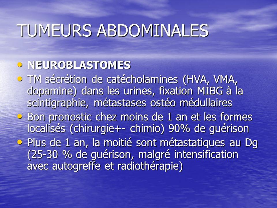 TUMEURS ABDOMINALES NEUROBLASTOMES