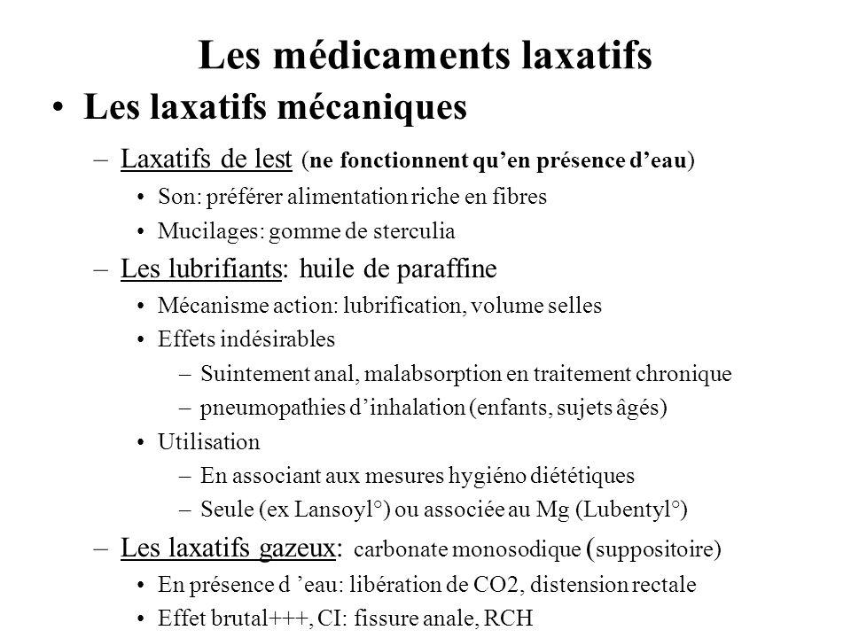 Les médicaments laxatifs