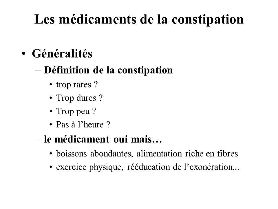 Les médicaments de la constipation