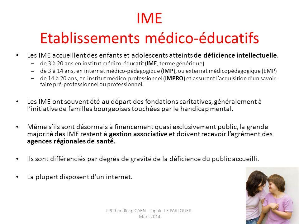 IME Etablissements médico-éducatifs