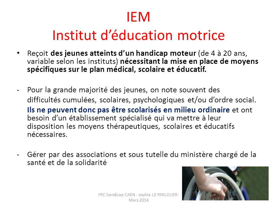 IEM Institut d'éducation motrice