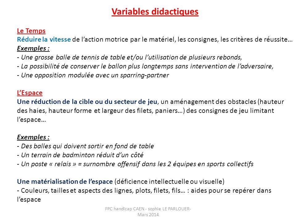 Variables didactiques