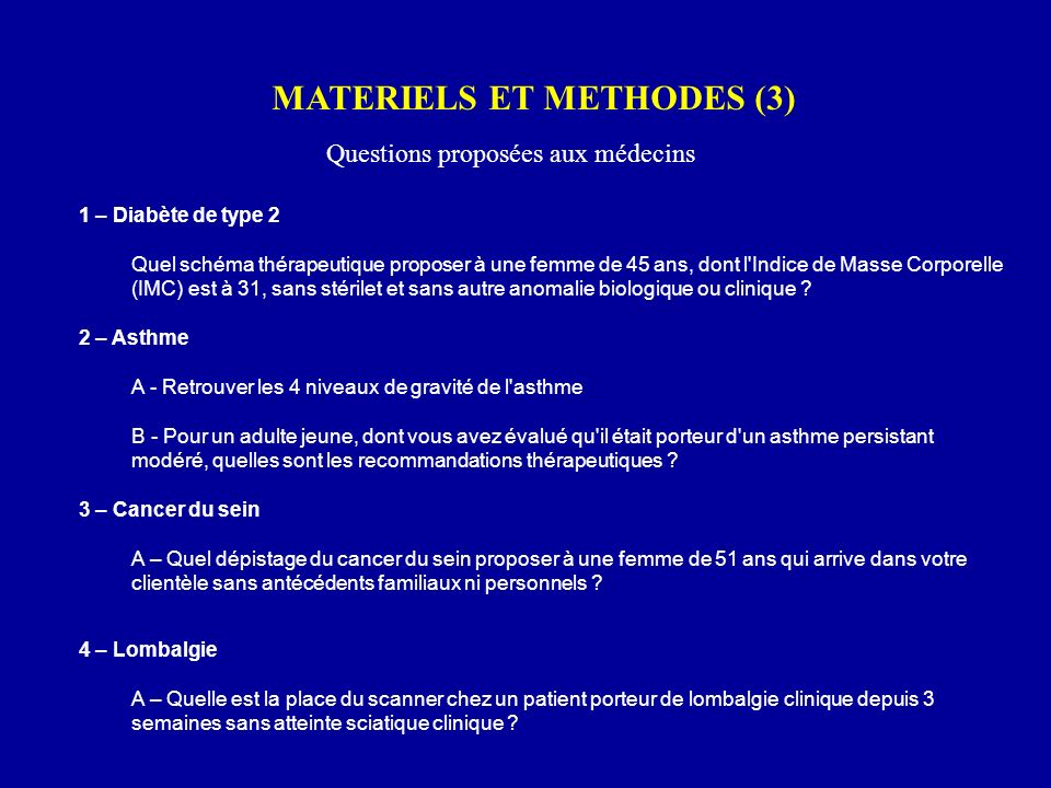 MATERIELS ET METHODES (3)