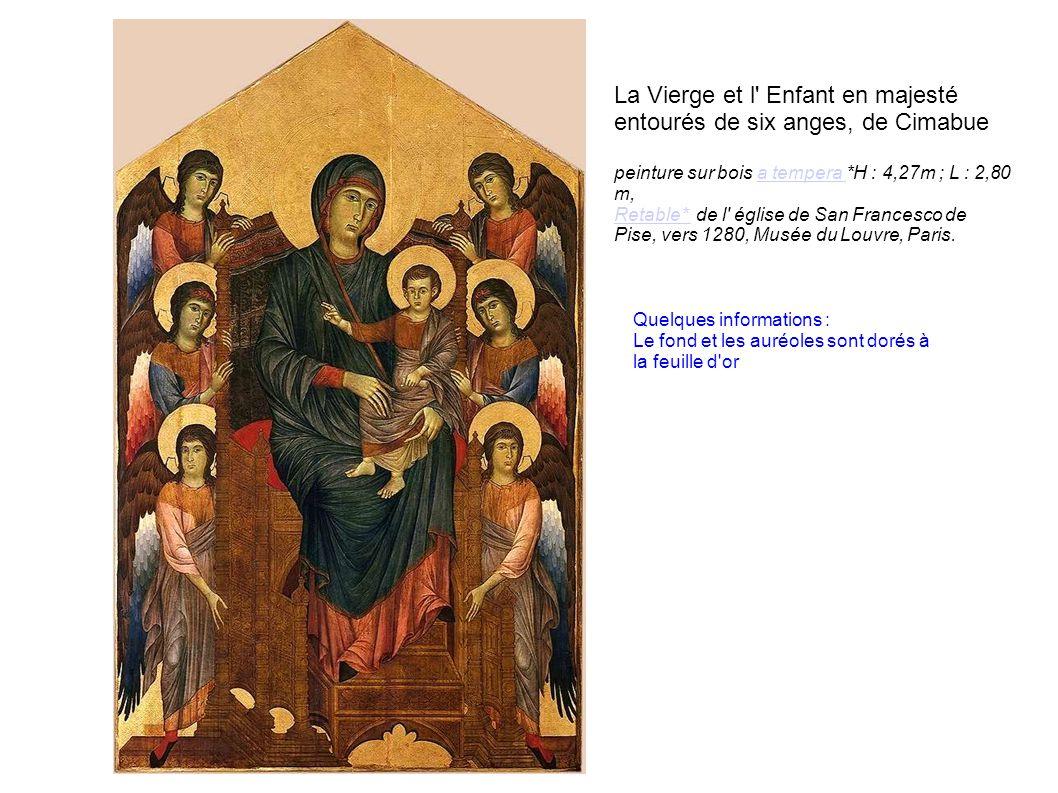 La Vierge et l Enfant en majesté entourés de six anges, de Cimabue