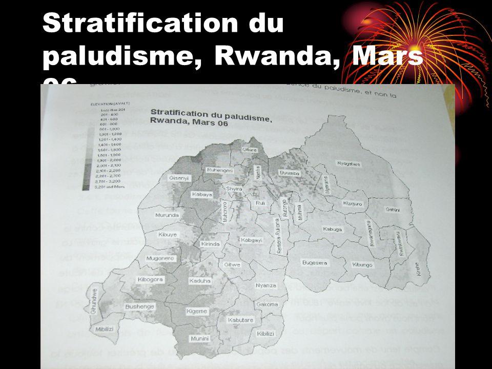 Stratification du paludisme, Rwanda, Mars 06