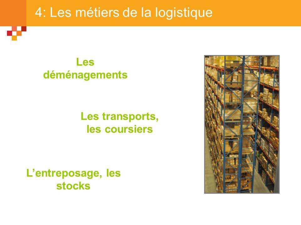 4: Les métiers de la logistique