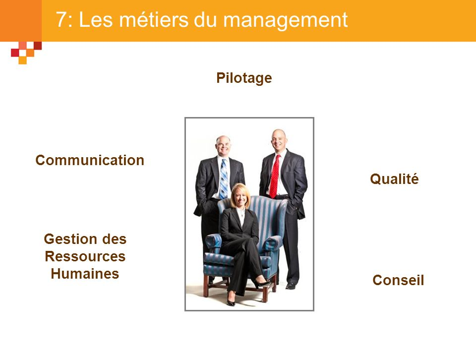 7: Les métiers du management